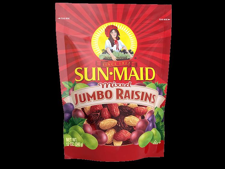 Sun-Maid Mixed Jumbo Raisins 12 oz. bag