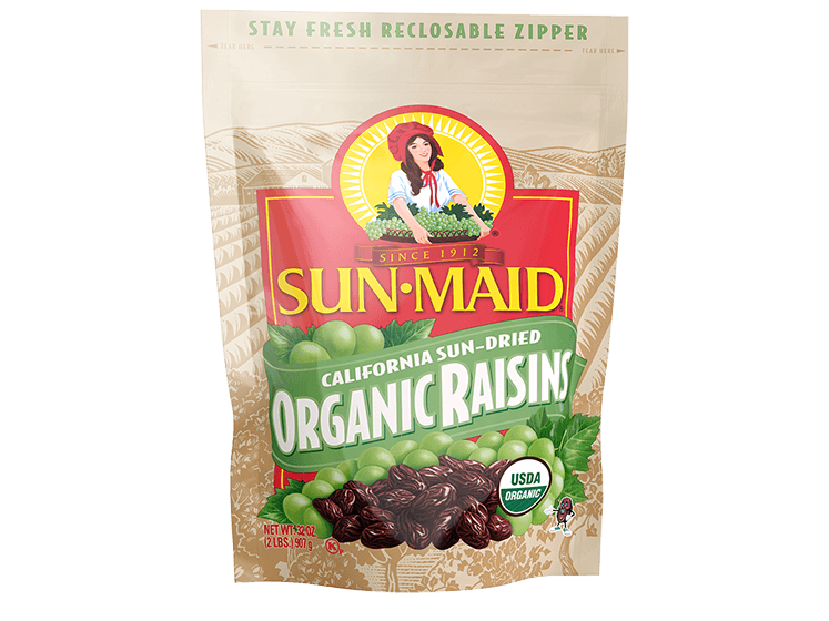 Sun-Maid California Sun-Dried Organic Raisins 32 oz. bag
