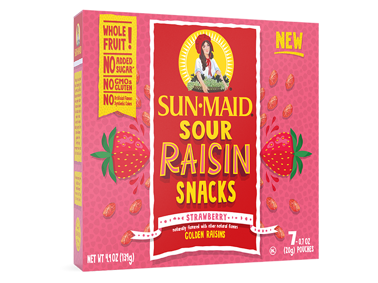 Sun-Maid Strawberry Sour Raisin Snacks 0.7 oz. bags (7 pack)