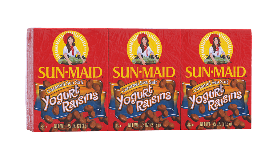 Sun-Maid Caramel Sea Salt Yogurt Raisins .75 oz. boxes (pack of 6)